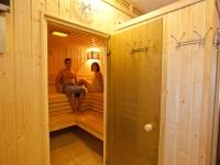 Sauna mit Farblicht und Entspannungsmusik